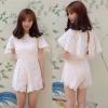[[พร้อมส่ง]]Korea style Jumpsuitลูกไม้ขาสั้น ด้านในเย็บเก็บรายละเอียดด้วยผ้าซับในอย่างดีตัวลูกไม้เป็นลูกไม้เนื้อดีหนาอยู่ทรงสวยไม่บางไม่ย้วยเวลาใส่ค่ะ