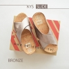 * NEW * FitFlop : KYS Slide : Bronze : Size US 7 / EU 38