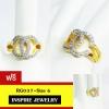 INSPIRE JEWELRY แหวนเพชรสวิส ฝังล็อค งานจิวเวลลี่ ตัวเรือนขึ้นด้วยทองเหลืองนอก ชุบทองแท้ 100% 24K พร้อมกล่องกำมะหย่ี่