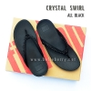 **พร้อมส่ง** FitFlop : CRYSTAL SWIRL : All Black : Size US 8 / EU 39