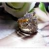 แหวนเพชร gold plated 5microns / white gold plated