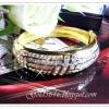 กำไลเพชร gold plated 1microns