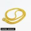Inspire Jewelry สร้อยคอทอง น้ำหนัก 2 บาท งานทองไมครอน ชุบเศษทองคำแท้ ยาว 20 นิ้ว หนัก 22 กรัม