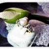 แหวนมุกน้ำจืดล้อมเพชร/gold plated 5microns/white gold plated