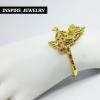 Inspire Jewelry กำไลพญานาคฝังพลอยนพเก้า ฟรีไซด์ หุ้มทองแท้ 100% / gold plated