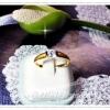 แหวนเพชรเล็กตัวเรือนทำซาตินเว้นขอบข้าง/gold plated 5microns/white gold plated