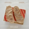 * NEW * FitFlop CRYSTALL Z-STRAP Sandal : Rose Gold : Size US 7 / EU 38