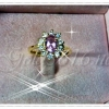 แหวนพลอย gold plated 0.5microns