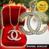 Inspire Jewelry ,จี้เพชรสวิส size 3x3cm. แฟชั่นอินเทรนสุดๆ สวยงาม พร้อมสร้อยคอ และกล่องกำมะหยี่ สำหรับวันพิเศษ วันเกิด วันตรุษจีน วาเลนไทน์ ของขวัญ ของฝาก