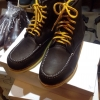 รองเท้าผู้ชาย | รองเท้าแฟชั่นชาย Dark Brown Boots หนังชามัวร์ (หนังลูกวัวแท้)