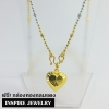Inspire Jewelry จี้หัวใจทองตอกลาย ขนาด 1x1cm.พร้อมสร้อยคอ2 กษัติรย์ ขนาด 16-18นิ้ว (เส้นใดเส้นหนึ่ง)หุ้มเศษทองแท้ 24K ปราณีต งดงาม สวยหรู พร้อมกล่องทองกลมสีแดง
