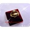 แหวนปลาโลมาสองตัว gold plated 2Microns
