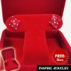 "Inspire Jewelry ต่างหูพลอยทับทิมชาตั้ม 4 เม็ด สูง 1cm.พลอยประจำวันเกิด วันอาทิตย์ คนเกิดวันอาทิตย์ ควรใช้เครื่องประดับ หรือ อัญมณีที่เป็น สีแดง เรียกว่า ""รัตนาภรณ์"" ได้แก่ ทับทิม (Ruby) พร้อมกล่องกำมะหยี่"