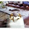 แหวนเพชร gold plated5microns