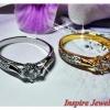 แหวนเพชร พลอย gold plated, white gold plated