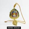 Inspire Jewelry , หลวงพ่อพุทธโสธร รุ่นแสตมป์ ที่ระลึกสร้างอุโบสถใหม่ กรอบทองสำหรับแขวนหน้ารถ เป็นมงคล งาน Design สวยงามมาก