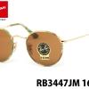 Rayban Round Sunglasses RB3447 JM 169 50 Gold Green Camo Lennon
