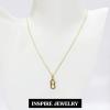 Inspire Jewelry สร้อยคอพร้อมจี้อินฟินิตี้ในตัว งานทอง 18K ยาว 18นิ้ว พร้อมถุงกำมะหยี่