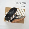 * NEW * FitFlop IBIZA Cork : Black : Size US 5 / EU 36