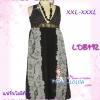 สาวอวบห้ามพลาด! เชียร์สุดๆ LDB492:: Party Chiffon Dress แซคชีฟองคอวีตัวยาวสุดเลิศ ผ้าลายสวยหรู รายละเอียดเก๋ มีซับใน