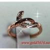 แหวนเพชร Pink gold plated 0.5microns