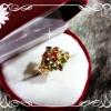 แหวนหุ้มทองแท้หนา 5Microns ตัวเรือนบรอนด์ทอง