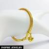 Inspire Jewelry สร้อยข้อมือทองลายสี่เสา น้ำหนัก 10กรัม งานทองไมครอน ชุบเศษทองคำแท้ ยาว 18x0.4cm.