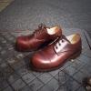 รองเท้าผู้ชาย | รองเท้าแฟชั่นชาย Brown Safety Shoes หนัง Oiled Pull Up