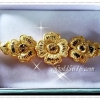 สร้อยข้อมือทองลายดอกไม้ gold plated 1microns