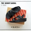 * NEW * FitFlop The Skinny Z-Cross : Black : Size US 8 / EU 39
