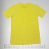 เสื้อยืดเปล่า ผ้า cotton 100% no.32 สีเหลือง