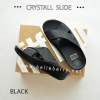 * NEW * FitFlop CRYSTALL Slide : Black : Size US 8 / EU 39