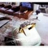 แหวนเพชรเล็ก gold plated 5microns