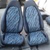 Daihatsu เบาะDaihatsu เบาะไดฮัทสุ กั๊บป๊อ ขอบผ้ามันสีเทาแก่ ผ้ากลางลายสีฟ้า,ขาว
