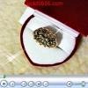 แหวนเพชรซีก 3แถวใหญ่ หุ้มทองหนา 2microns