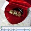 แหวนตอกลายดอกไม้ gold plated 2microns
