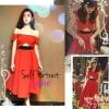แบบสาวชมพู่ Self portrait red sexy dress ATA485 เดรสสไตล์แบรนด์ดัง self portrait สีแดงสวยแจ่มมากใส่แบบไหล่ตกหรือพาดไหล่แบบชมพู่โชว์เอวนิดๆ stock565