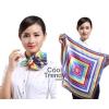 ผ้าพันคอจัตุรัส ผ้าพันคอ uniform รหัส S41 - size 60 x 60 cm