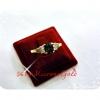 แหวนพลอยเพชรข้าง gold plated 5microns