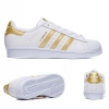 PRE ODER Adidas Superstar Foundation White/Gold Trainers