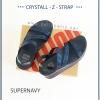 FitFlop CRYSTALL Z-STRAP Sandal : Supernavy : Size US 8 / EU 39