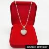 Inspire Jewelry ชุดเซ็ทสร้อยคอพร้อมจี้หัวใจฝังเพชร ในกล่องกำมะหยี่สวยหรู งานจิวเวลลี่่ สวยงาม ปราณีต ใส่ได้กับเสื้อผ้าทุกชุดมีสร้อยคอให้เลือกทั้ง 16นิ้ว หรือ 18นิ้ว