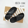 * NEW * FitFlop IBIZA Cork : Black : Size US 6 / EU 37