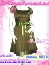 เชียร์!ไปงานดูเก๋ดูดีค่ะ งานตัดสวย DB230X Doll Princess ใหม่! แซคแขนตุ๊กตาผ้าชีฟอง งานตัดละเอียด ดีไซน์เก๋มาก ระบายเป็นชั้นๆ สีเขียวโบทานิคสวยเก๋