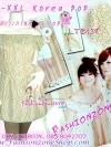 อก36-42 สาวอวบสวยได้ ฮิตฮอตแฟชั่นเกาหลีเก๋สุดๆ LTB138 เสื้อเกาหลีลายดอกเล็กๆน่ารักมากมายใส่ได้สองแบบ ดึงลงมาที่ไหล่ก้อได้น่ารักกระดุมหวาน Gr