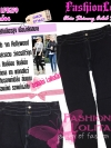 #ใหม่#ไซส์44 เอาใจสาวอวบ #สกินนี่เอวสูงที่กำลังฮิต# LPB259 HighwaistSkinnyกางเกงสกินนี่เอวสูงเก็บหน้าท้องดีสวยยีนส์ฟอกผ้ายืดญี่ปุ่น สียีนส์ดำ