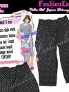 ไซส์36 เอาใจสาวอวบ #สกินนี่เอวสูงที่กำลังฮิต# PB919 Highwaist๋JeanSkinnyกางเกงสกินนี่ 5 ส่วนเอวสูงเก็บหน้าท้องดีสวยยีนส์ฟอกผ้ายืดญี่ปุ่น ลายจุดสีดำ