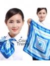 ผ้าพันคอจัตุรัส ผ้าพันคอ uniform รหัส S08 - size 60 x 60 cm