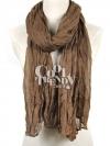 ผ้าพันคอแฟชั่น Cotton Candy : สี Brown