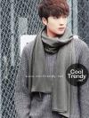 ผ้าพันคอผู้ชาย Man scarf ผ้า cashmere 180x30 cm - สี dark Grey